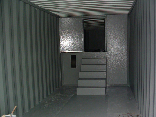 Filtercontainer met gescheiden buffer opvang blauwalgen