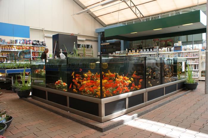 Foto 01 Opstelling Vijverbewaarsysteem Bij Nieuwbouw Tuincentrum
